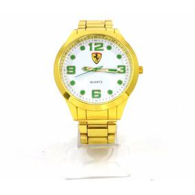 Relógio Ferrari Dourado-barato!!!