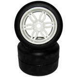 Pneu Sintec Slicks Roda Monster Branca S087 P/ Automodelo