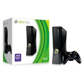 Xbox 360 Slim Desbloqueado Na Caixa + 2 Controles +3 Jogos