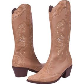 Bota Montaria Feminina Cano Alto Salto Texana Country Ref19