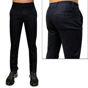 Calça Jeans Social Com Lycra Até Tamanho Grande 64 Plus Size