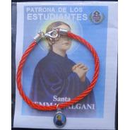 Pack 6 Pulseras De Santa Gemita, Cordón, Hecha A Mano.
