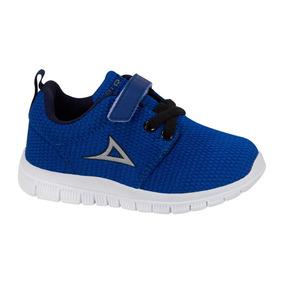 Tenis Running Comodo Niño Pirma Color Azul Textil Sn366 A
