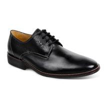 Sapato Hannover Preto E Tan Em Couro Legítimo