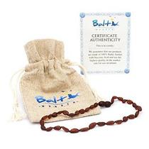 Collar De Ámbar Dentición Para Bebés (unisex) (raw Cereza) -