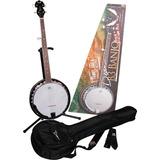 Dean B3 Banjo Pack Nuevo Con Funda Y Stand