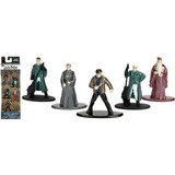 Pak 5 Figuras De Metal Harry Potter Draco Dumbledor Etc