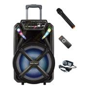 Bafle Recargable Bluetooth Muy Potente Parlante 12 Pulgadas Con Control Remoto Sd Usb Musica