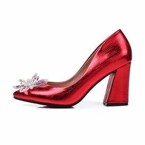Sapato Feminino Salto Alto 109430 Grande Até 44 Plus Size