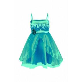 Vestido De Nena, Con Top De Raso Y Falda De Organza, N-0031