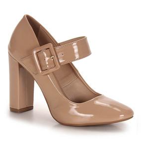 Sapato Boneca Salto Feminino Bruna Rocha - Nude