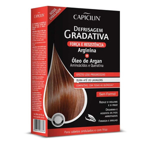 Kit Capicilin Defrizagem Gradativa Arginina+óleo De Argan