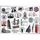 World Monument Landmarks Stickers Viajes Pirámide Esfinge P