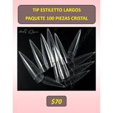 Tips Estiletto Extralargas Uñas Acrilicas