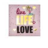 Quadro Com Led Barbie Love