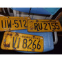 Placas De Carro Amarela Antiga - Valor Por Unidade* #2331