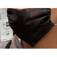 Cubrebocas Sencillo Negro De Tela Sms 35gr Pq/150