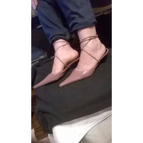 Zapatillas Destalonadas (mules) 23.5 Con Latigo Nuevas