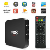 Android Tv Box V88 Android 6 Quad Core Smart Netflix Youtube