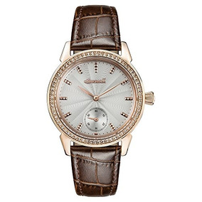 Ingersoll Womens Automatic Stainless Steel And Leather Casua