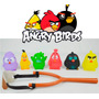 Bonecos Angry Birds + Estilingue - Novo E Lacrado