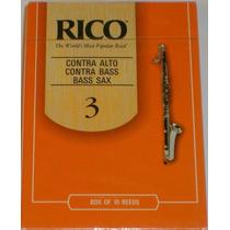 Palheta Rico 3 Sax Baixo/sax Contrabaixo/contra Clarone Uni
