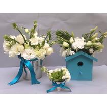 Base Pajarera Para Arreglo Floral, Flores