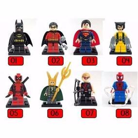 100 Unidades Lego Super Herois Vingadores Dc Compativel