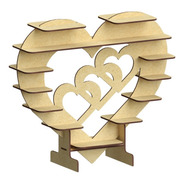 2 Pzas Base Corazón Para Chocolate Ferrero Rocher Mdf Rg516