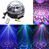 Luz Boliche Led Bola Ritmica Magic Ball Dj Fiesta Sd Usb
