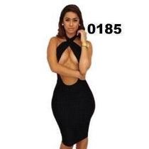 Hermoso Vestido Negro Atrevido Diseño Exclusivo Backless