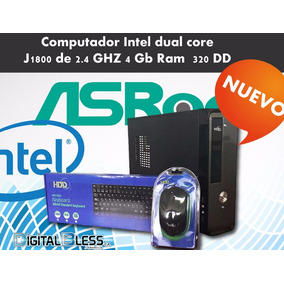 Cpu Dual Core 4 Gb De Ram Ddr3, 160 Gb Disco Duro.