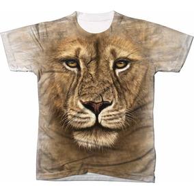 Camisa Camiseta Blusa 3d Manga Curta Rei Leão Moda Lion 01