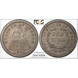 Moneda Eu 10 Cents Dime 1843-o Pcgs Certificada.