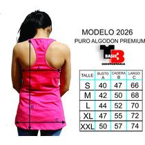 Musculosas Pack X 3 Deportivas Algodón 30/1