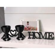 Kit Presente Dia Dos Namorados Vasinho Casal + Palavra Home