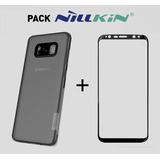 Pack Nillkin Case + Mica De Vidrio 3d Cp Galaxy S8 Y S8 Plus