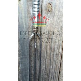 Espeto Triplo Lamina De Alumínio Polida 85 Cm Total