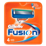 Gillette Fusion - Lâmina De Barbear 4 Unidades