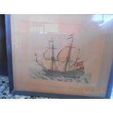 Cuadro Con Láminas De Barcos Antiguos