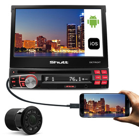 Dvd Player Detroit 7 Pol Retrátil Bluetooth + Câmera De Ré