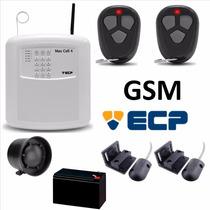 Kit Alarme Residencial Ecp Gsm C/ Sensor De Porta De Aço