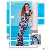 Hermoso Vestido (maxidress) Estampado De Moda Cklass