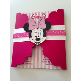Invitacion Minnie Mouse Mimi Fiesta Niña