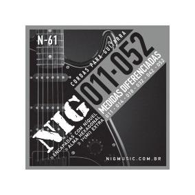 Encordoamento Cordas Nig N61 011-052 Níquel Para Guitarra