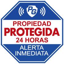 Letrero / Placa Seguridad Advertencia De Alarma Poliestireno