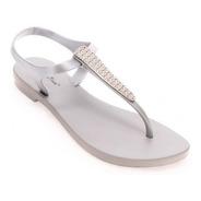Sandália Feminina Montego Bay Club 83016 -cinza/prata