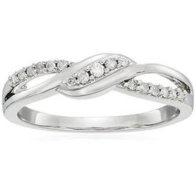 Anillo De Diamantes De Oro Blanco De 10k (1/6 Cttw, Color...