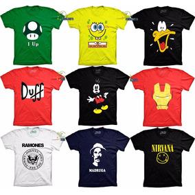 Camisetas Grandes Tamanhos Especiais Plus Engraçadas Bandas