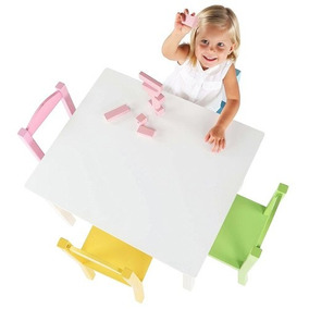 Mesa Infantil Madera Mdf Color Pastel Envio Gratis